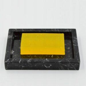 Jabonera de mármol Nero Marquina 14x10cm