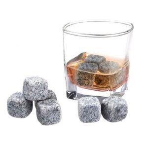 Cubitos de bebida de piedra 9 uds. gris