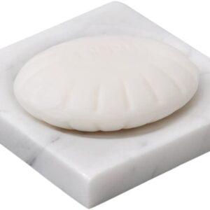 Jabonera de mármol Bianco Carrara 12x12cm