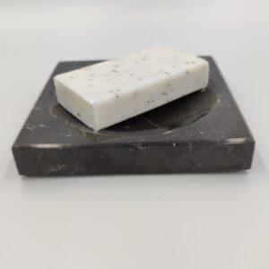 Mydelniczka z marmuru Nero Marquina 12x12cm