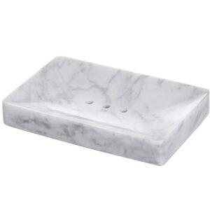 Mydelniczka z marmuru Bianco Carrara 14cm x 9cm