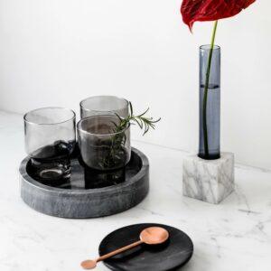 Nero Marquina marble bowl 12cm