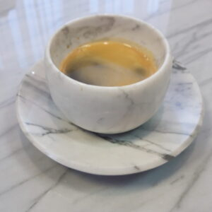 Bianco Carrara marble coffee mug