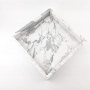 Taca z marmuru Bianco Carrara 20cm x 20cm