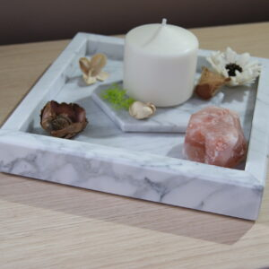 Taca z marmuru Bianco Carrara 25cm x 25cm