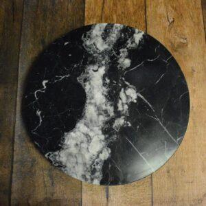 Taca obracana z marmuru Nero Marquina 40cm