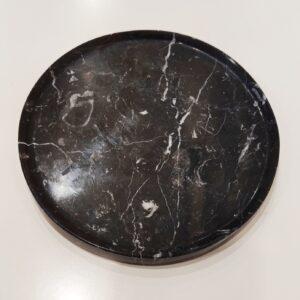 Taca z marmuru Nero Marquina 20cm