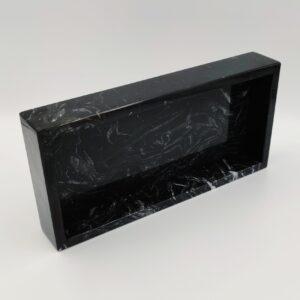 Taca z marmuru Nero Marquina 25x12cm