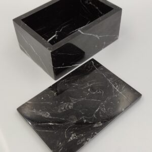 Taca, szkatułka z marmuru Nero Marquina 15x10cm