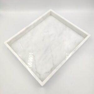 Taca z marmuru Bianco Carrara 30cm x 25cm