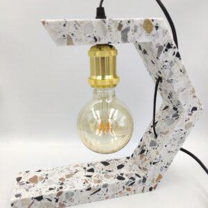 Lampa z marmuru Terrazzo