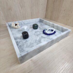 Bandeja de mármol Bianco Carrara 30x30cm