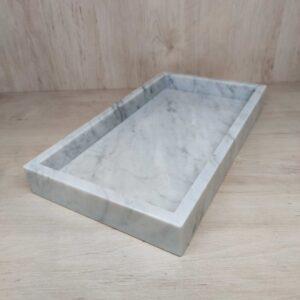 Bianco Carrara marble tray 20x35cm
