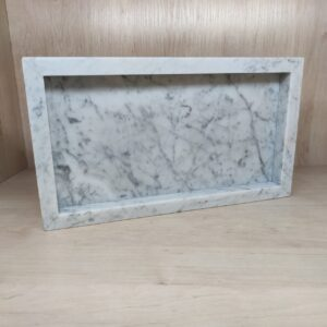 Taca z marmuru Bianco Carrara 20cm x 30cm