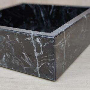 Taca z marmuru Nero Marquina 15x15cm