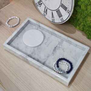 Bandeja de mármol Bianco Carrara 20x35cm