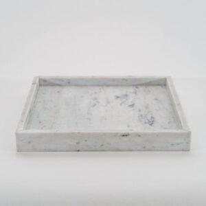 Bianco Carrara marble tray 17x17cm