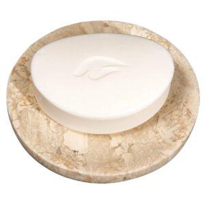 Breccia marble soap dish 12cm