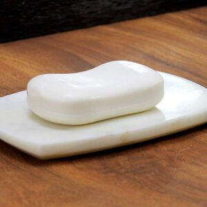 Bianco Carrara marble soap dish 15x9cm