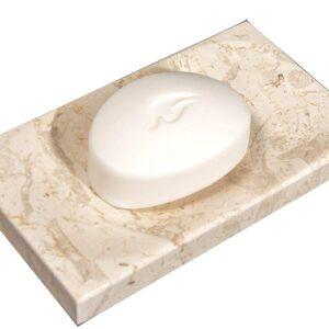 Breccia marble soap dish 15x9cm