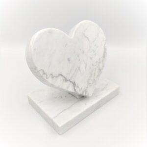 Bianco Carrara marble heart