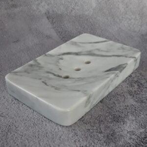 Jabonera de mármol Bianco Carrara 14x9cm
