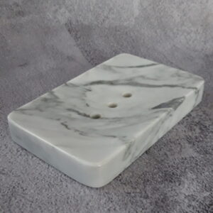 Mydelniczka z marmuru Bianco Carrara 14x9cm