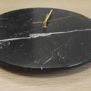 Zegar ścienny z marmuru Nero Marquina 30 cm