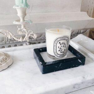 Bianco Carrara & Marquina marble soap dish 13x10cm tray