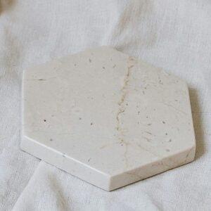 Podstawka z marmuru Breccia Sarda 11cm x 12,5cm