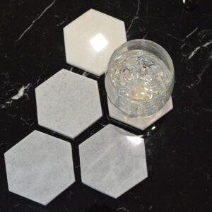 Crystal White marble base 8,2×9,6cm 6pcs