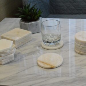 Crystal White marble stand 9.5cm 6pcs