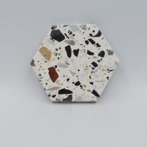 Podstawka z kamienia Terazzo 10cm x 8,5cm