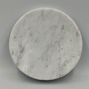 Mydelniczka z marmuru Bianco Carrara 12cm