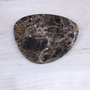 Soap dish made of Emperador Dark marble, 13 x 13 cm
