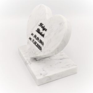 Bianco Carrara marble heart with any engraving
