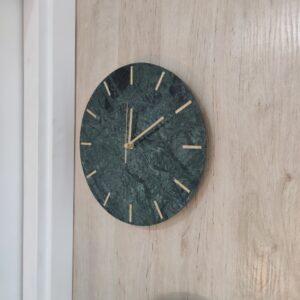 Zegar ścienny z marmuru Werde Gwatemala 30 cm indeks