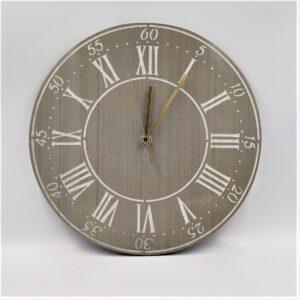 Zegar ścienny z szarego kamienia 30 cm indeks rzymski