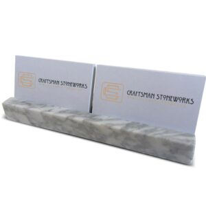Marble Bianco Carrara 25x5cm business card holder