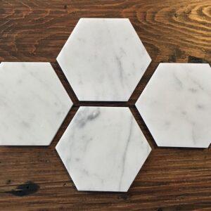 Bianco Carrara marble stand 11 x 12.5 cm