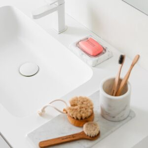 Bianco Carrara marble soap dish 14x10cm