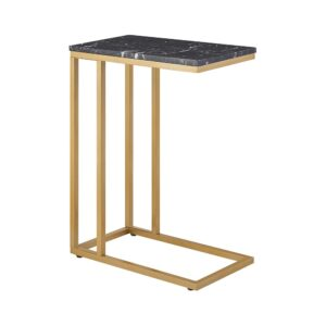 Nero Marquina marble table 46.5