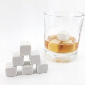 Kamienne kostki do drinków 6 szt. white