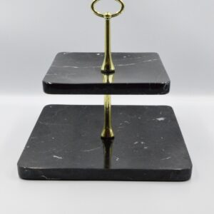 Tray stand in Nero Marquina 25 marble