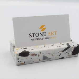 Business card holder made of Terrazzo stone 10×5 cm