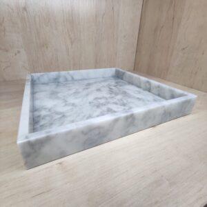Taca z marmuru Bianco Carrara 30×30