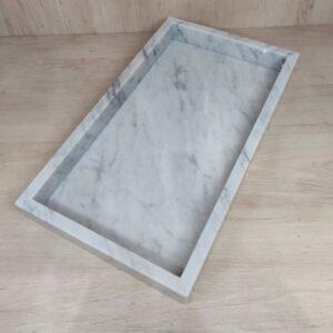 Taca z marmuru Bianco Carrara 35x20cm