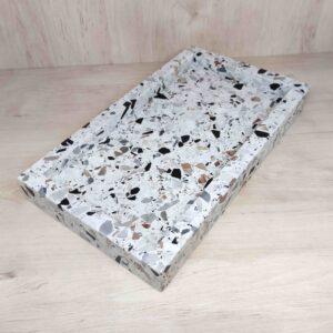 Taca z kamienia Terrazzo Retro 35x20cm