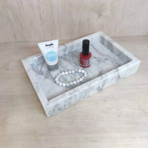 Bianco Carrara marble tray 25x16cm
