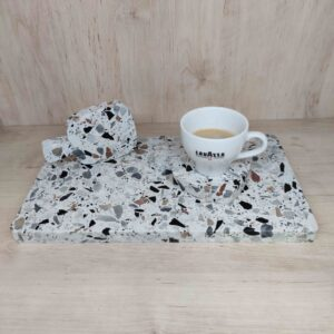 Deska do serwowania z kamienia Terrazzo 30cm x 15cm